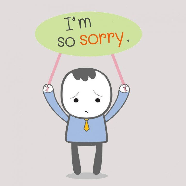 Ảnh xin lỗi bạn gái vô cùng tha thiết