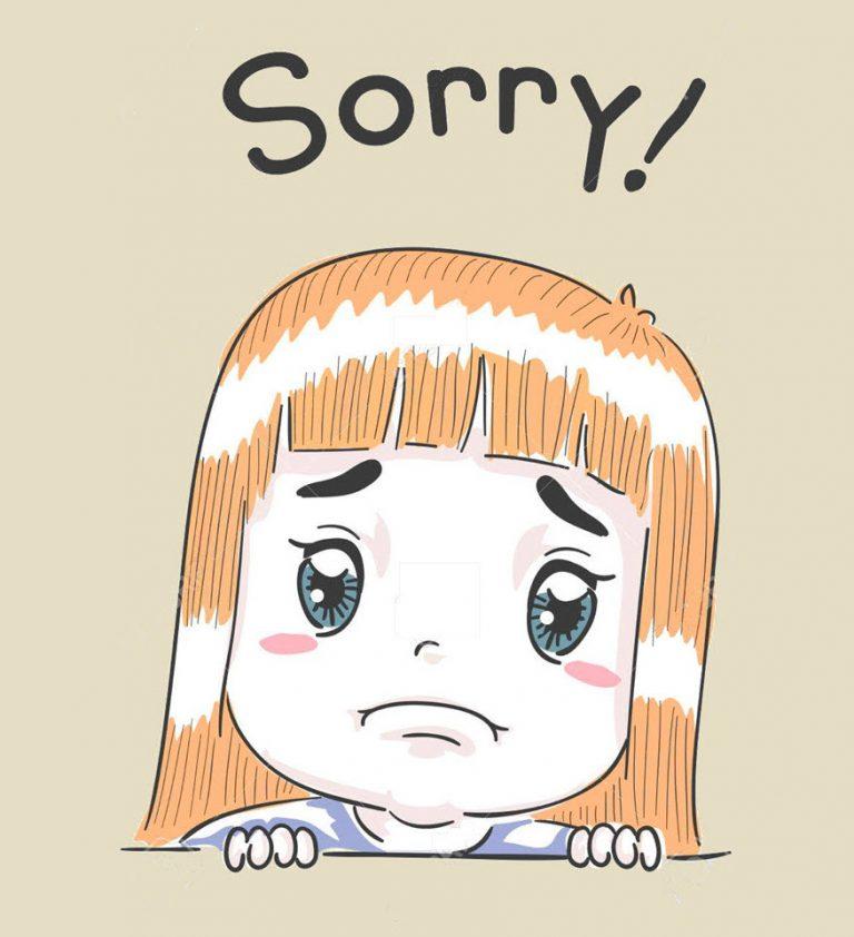 Hình xin lỗi người yêu là nam đáng thương