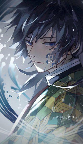 Hình anime ngầu đẹp với boy Tomioka Giyuu lạnh lùng.