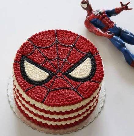 Ảnh bánh sinh nhật ngon hình Spider Man cho bé trai