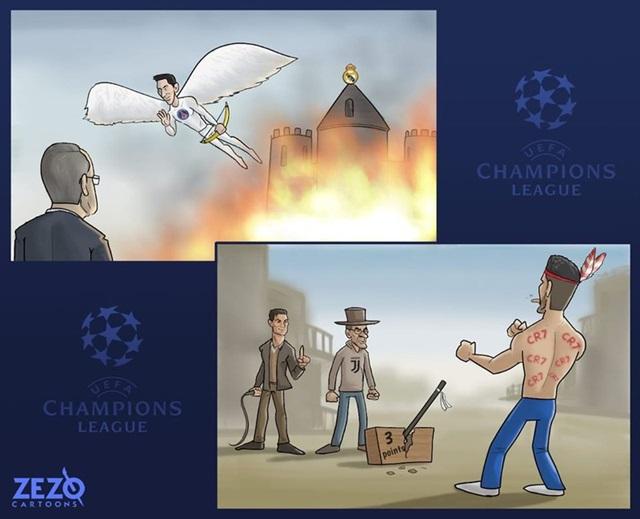 Ảnh chế hay về bóng đá - PSG vùi dập Real, Atletico Madrid may mắn thoát thua trước Juventus