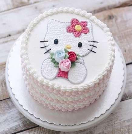 Ảnh về bánh sinh nhật đẹp nhất chủ đề mèo Hello Kitty