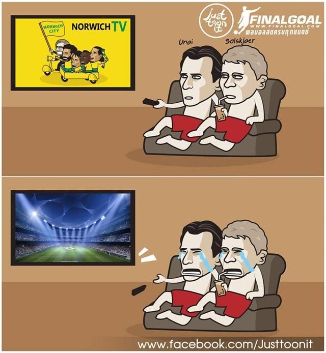 Ảnh vui nhộn về Mu và Arsenal khóc ròng vì không được đá C1 2019 - 2020