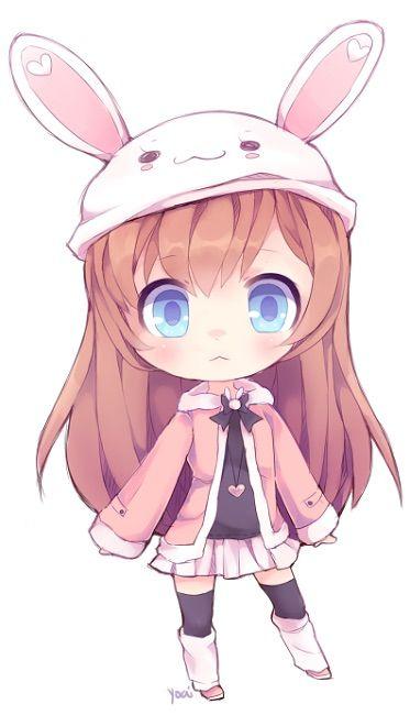 Hình ảnh anime chibi girl cực cute cho điện thoại