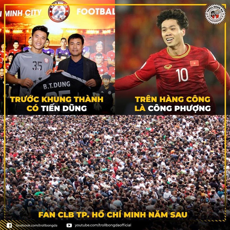 Hình ảnh hài hước về tình yêu bóng đá của người dân TPHCM