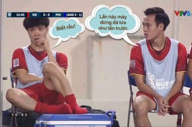 Hình ảnh ngộ nghĩnh về bóng đá Việt Nam