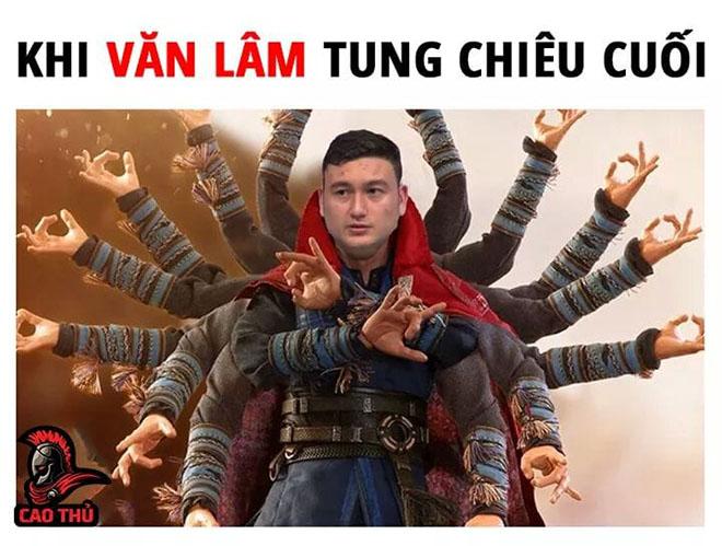 Hình hài hước về thủ môn Văn Lâm