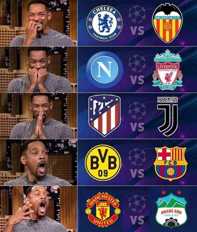 Hình ngộ nghĩnh về bảng xếp hạng bóng đá