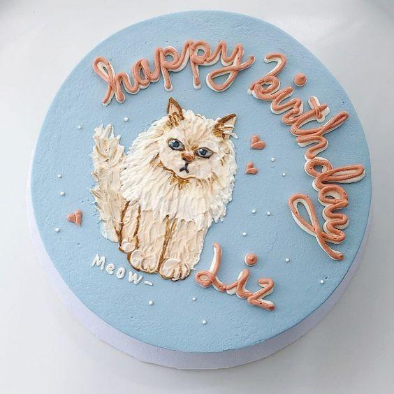 Tải ảnh bánh sinh nhật cho người thích mèo
