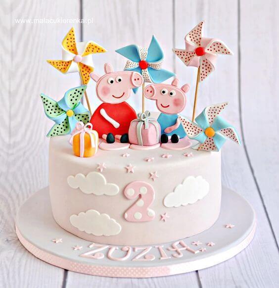 Ảnh bánh sinh nhật con heo chủ đề Peppa Pig