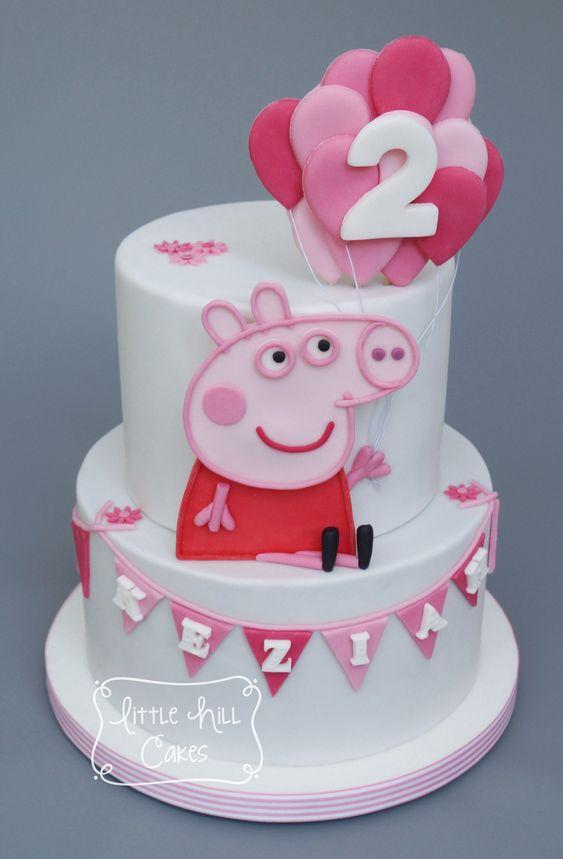 Bánh kem sinh nhật hình ảnh con heo dễ thương