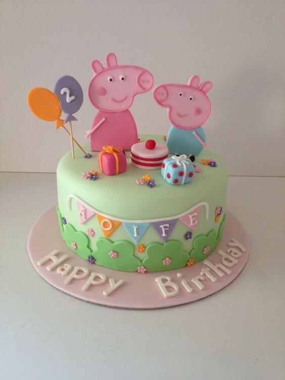 Bánh sinh nhật happy birthday Peppa Pig
