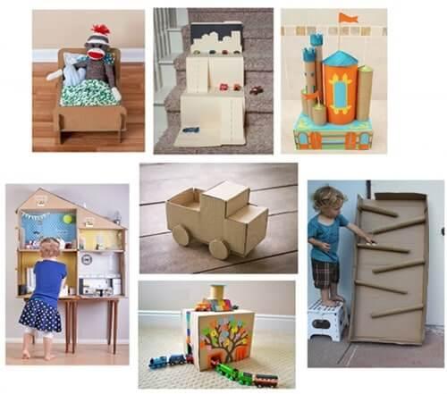 Những ý tưởng trang trí khác ngoài cách làm nhà bằng giấy của thùng carton