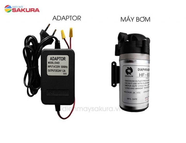 Phụ kiện máy bơm và Adaptor của máy lọc nước RO