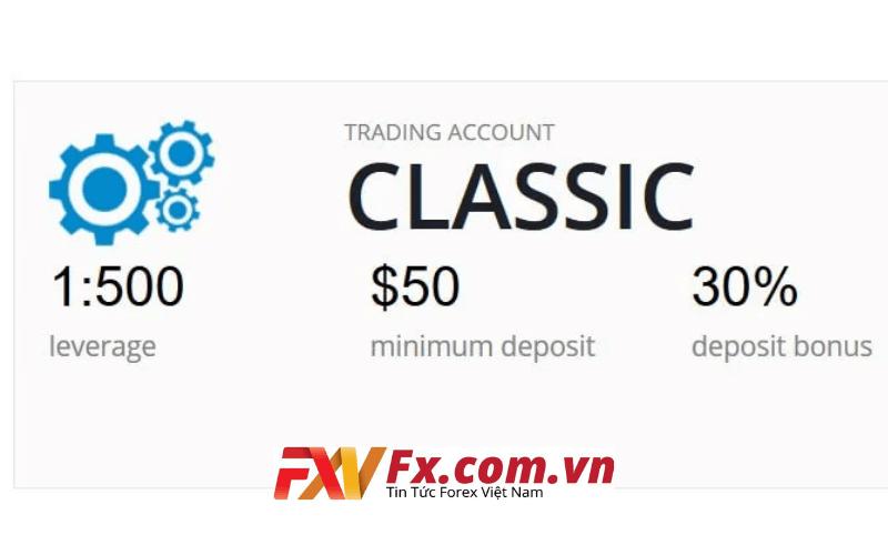 Tài khoản Classic tại sàn giao dịch LiteForex