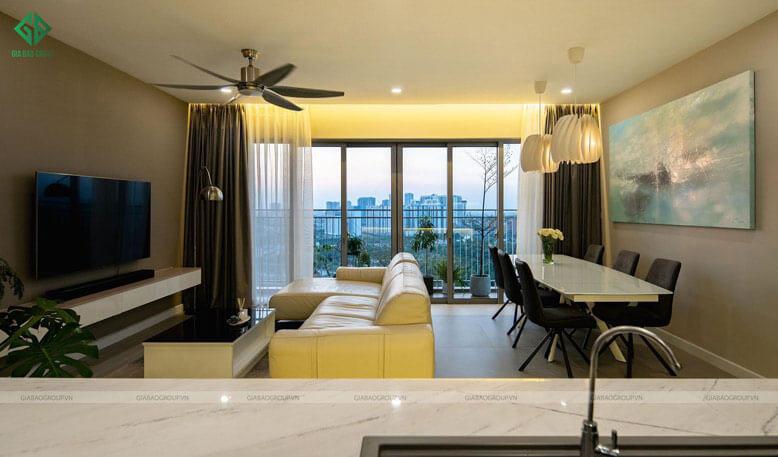 Trang trí nội thất phòng khách với lối sống tối giản