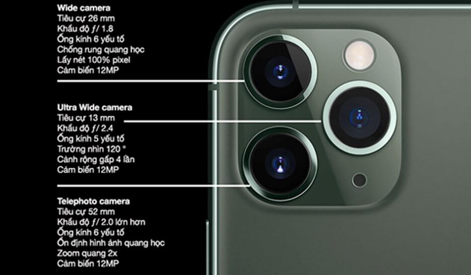 Thông số kỹ thuật camera của iPhone 11 Pro Max