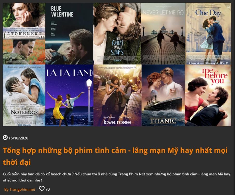 """Full HD - Cả 2 website trangphim.net và phimhan.co còn phát triển cả mảng blog """"không giống ai"""" – thích nói về những bộ phim cũ thiệt cũ để review và giới thiệu đến mọi người những bộ phim cực phẩm."""