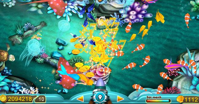 Bắn tăng đạn khi chơi game bắn cá để ăn nhiều xu