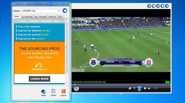Phần mềm xem bóng đá trực tuyến Sopcast
