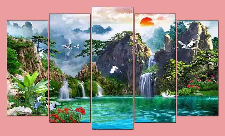 Quà tặng tuyệt đẹp tranh treo tường phong thủy Sơn Thủy Hữu Tình