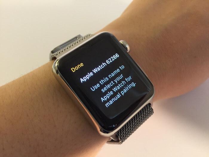Màn hình đồng hồ Apple Watch khi kết nối thành công với iPhone