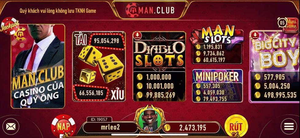 Man Vip - Không gian Man Club game đổi thưởng VIP cho đại cao thủ