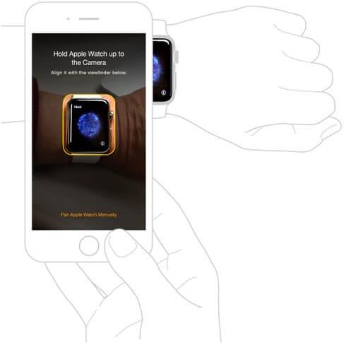 Minh họa cách nhận diện Apple Watch từ iPhone