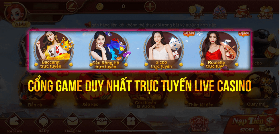 Sức Mạnh Và Điều Khác Biệt Từ Sảnh Casino Live CF68