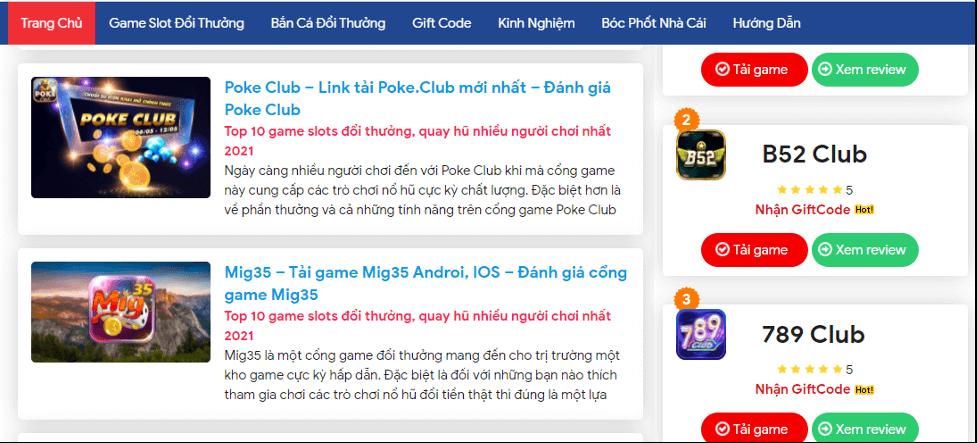 Điểm qua thông tin review về game bài đổi thưởng hấp dẫn tại Nhacaiso.vip
