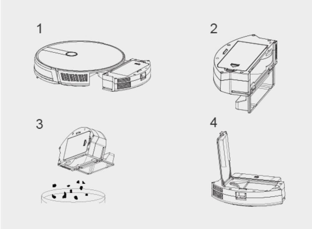 Những bước cần thiết khi vệ sinh robot hút bụi