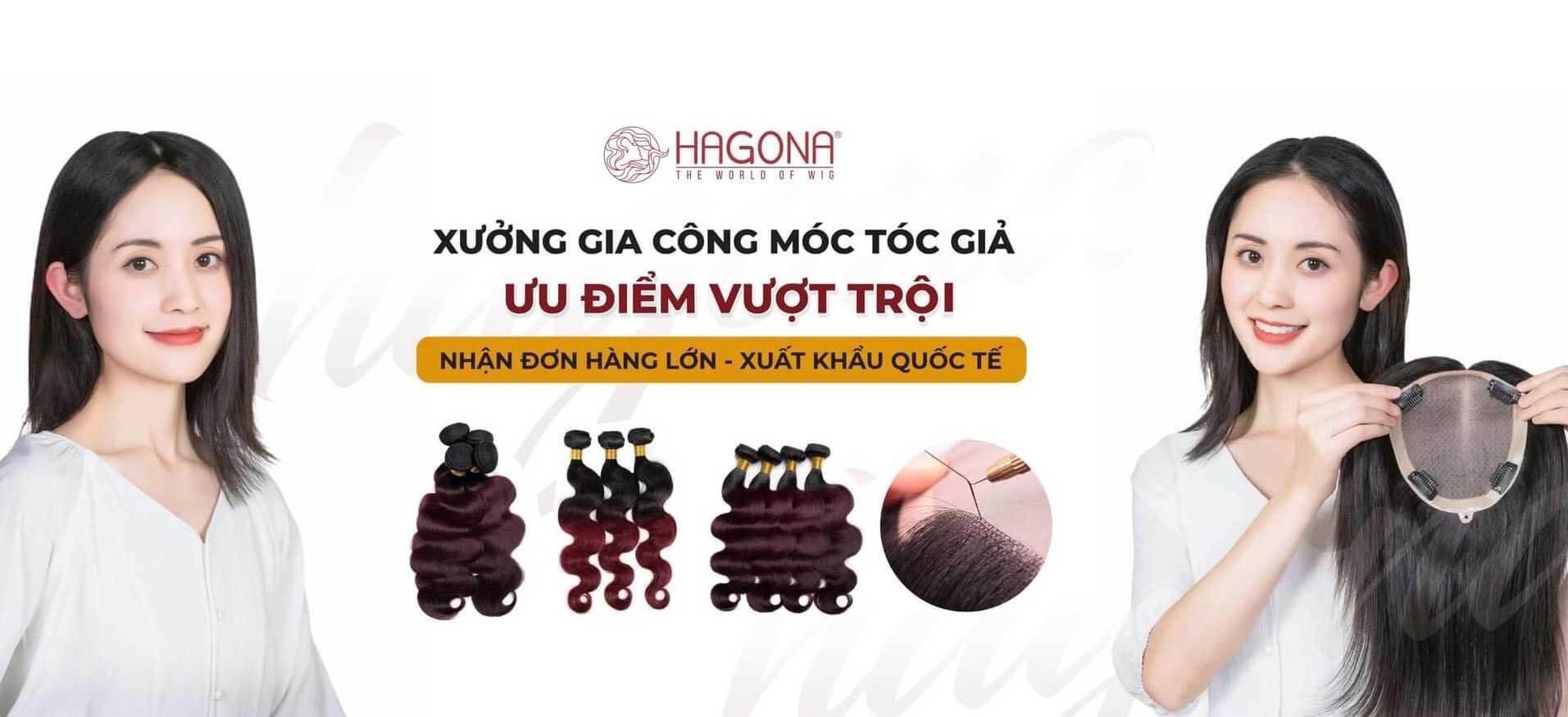 Nhà máy móc tóc giả Hagona xuất khẩu quốc tế uy tín chất lượng nhất tại TPHCM