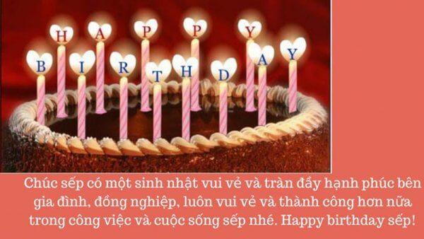 Lời chúc mừng sinh nhật sếp ý nghĩa